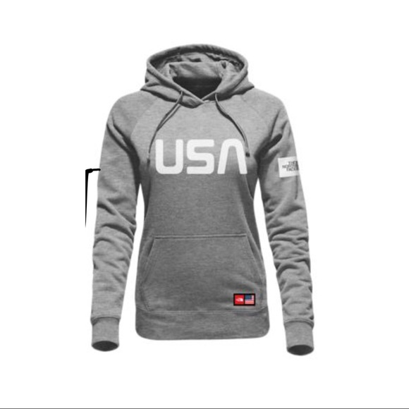 Women's USA Northface Hooded Sweatshirt